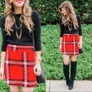 Topshop High Waist Plaid Mini Skirt